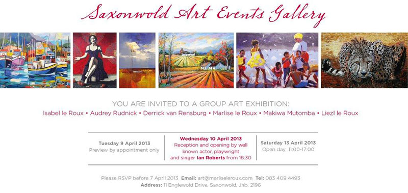 Marlise le Roux - Saxonwold Event Art Gallery - April 2013